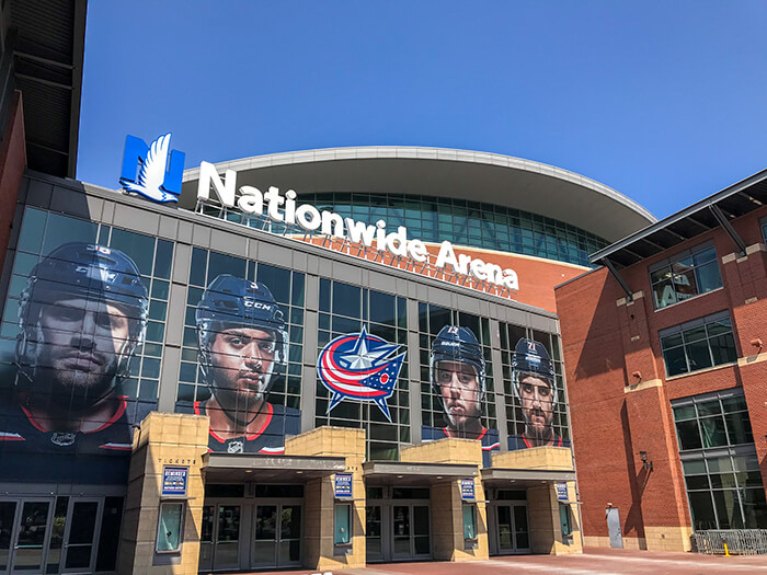 Nationwide Arena in Downtown Columbus