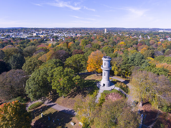 Washington Tower in Mount Auburn Cemetery