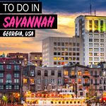 fun things to do in Savannah