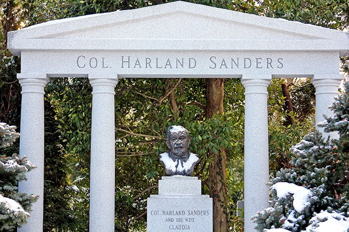 Grave of Colonel Harland Sanders