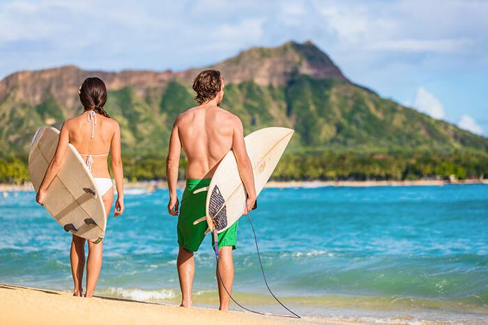 Waikiki Beach Surfing